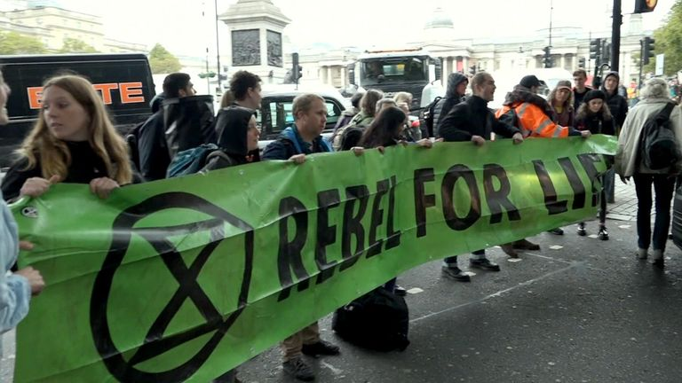 There is a dedicated art department for Extinction Rebellion's banners and logos