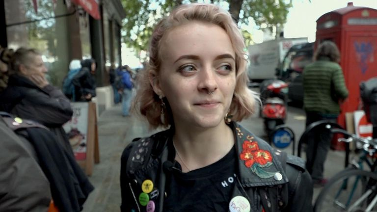 Daisy Wyatt, 19, said the future of the planet is more important than her immediate career