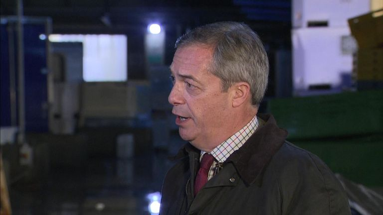The Brexit Party leader's remarks came after the close of nominations for candidates in the upcoming general election.