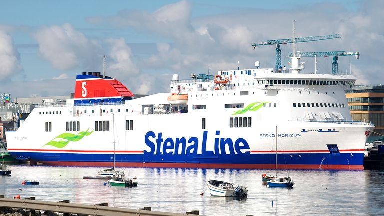 The men were found on the Stena Horizon, which sails the Cherbourg-Rosslare route, the company said. Pic: Stena Line
