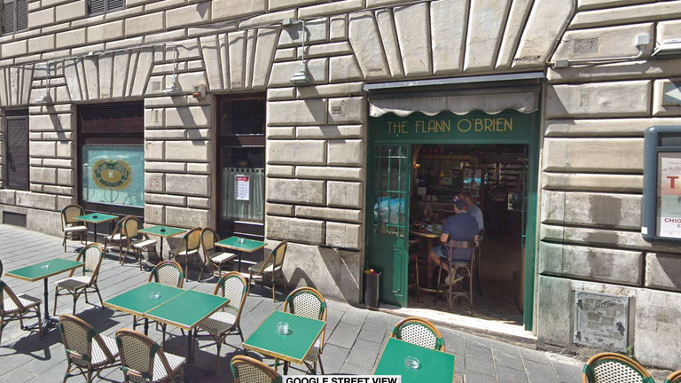 The Flann O'Brien pub where the incident happened