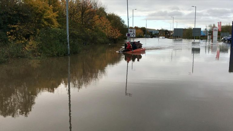 Divers have been working in enormous flooded areas
