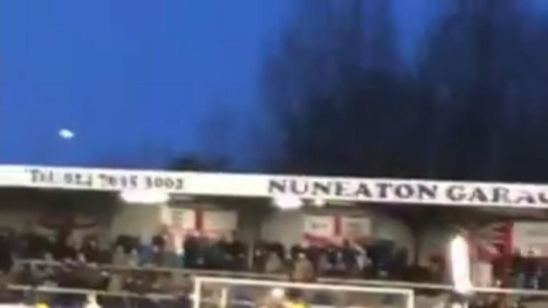 There was drama in non-league Nuneaton Borough's game with Stratford Town on Saturday as Nuneaton goalkeeper Tony Breeden stepped up to take a penalty…and ended up smashing one of the stadium lights.