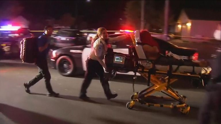 Six people are in hospital after the shooting in California