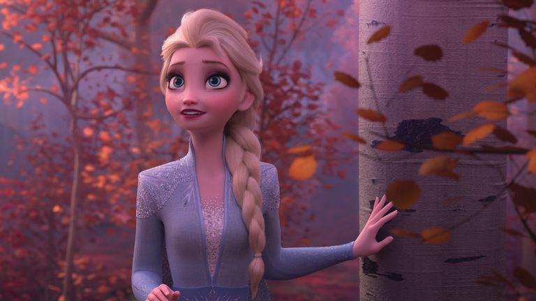 Frozen 2,... Elsa (voice of Idina Menzel) finds herself in an enchanted forest that is surrounded by a mysterious and magical mist. ...Frozen 2... opens in U.S. theaters on Nov. 22, 2019. .. 2019 Disney