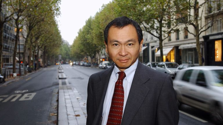 Francis Fukuyama pictured in Paris in 2002