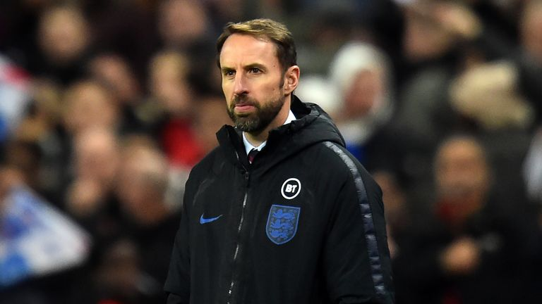 Manager Gareth Southgate watched on with pride as his side cruised to glory