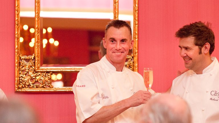 Gary Rhodes and Richard Guest. Pic: Kit Chapman/The Castle Hotel