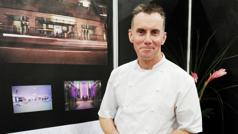 Gary Rhodes in his pop-up restaurant at the Taste of Christmas festival at ExCeL, London. PRESS ASSOCIATION Photo. Picture date: Friday December 2, 2011. Photo credit should read: Georgie Gillard/PA Wire