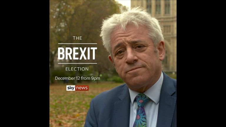 Former speaker of the house John Bercow will be joining the Sky News election night team to bring some order to proceedings.