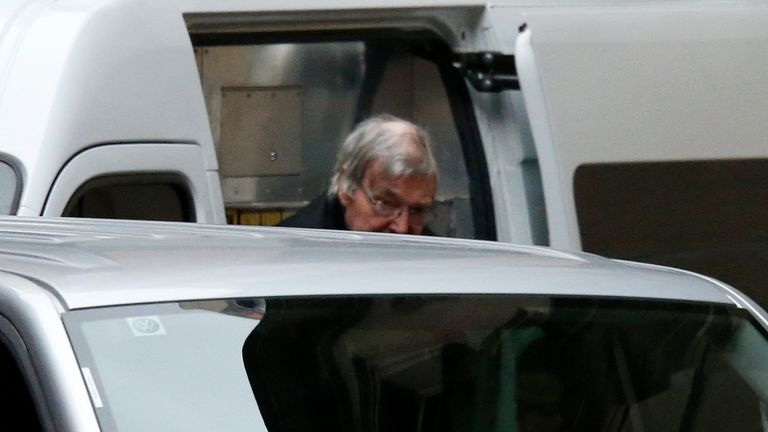 August: George Pell arrives for an appeal hearing in Melbourne