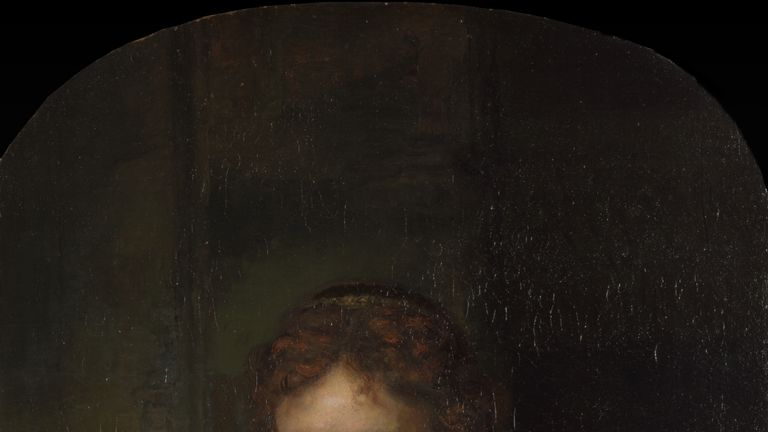 Rembrandt's Girl at a Window. Pic: Dulwich Picture Gallery