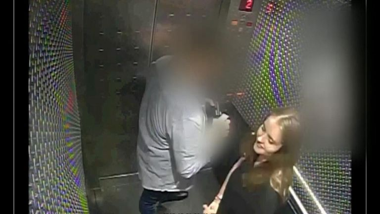 Security camera footage of British backpacker Grace Millane meeting with her Tinder date and now accused killer was shown to the jury at her New Zealand murder trial.