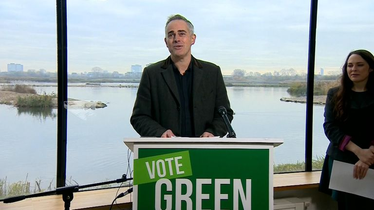 Green Party co-leader Jonathan Bartley