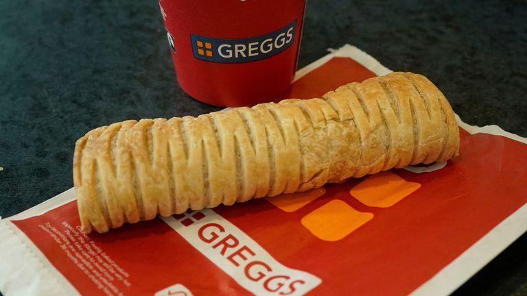 Vegan sausage Greggs