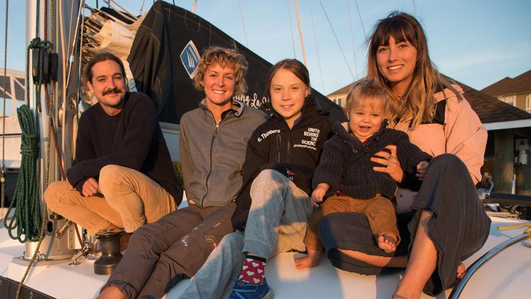 Greta Thunberg is hitching a ride across the Atlantic with an Australian family. Pic: Greta Thunberg