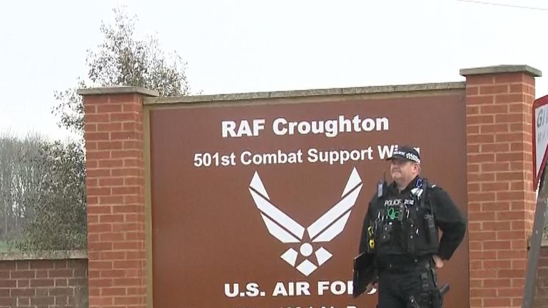 The accident happened at RAF Croughton, a US airbase