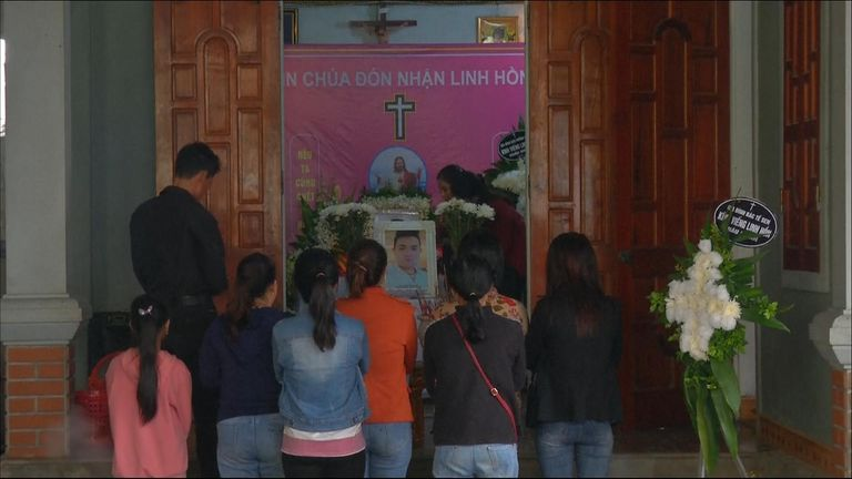 Hoang Van Tiep's relatives have finally been able to mourn the loss of the 18 year old