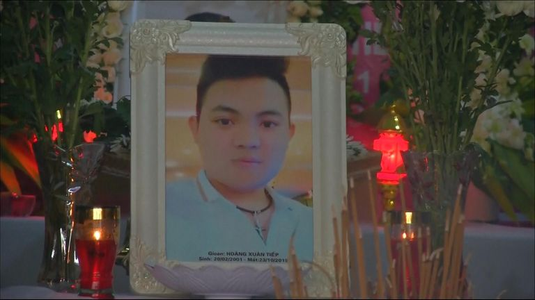 A memorial to Hoang Xuan Tiep, 18, has been set up in Nghe An, north central Vietnam