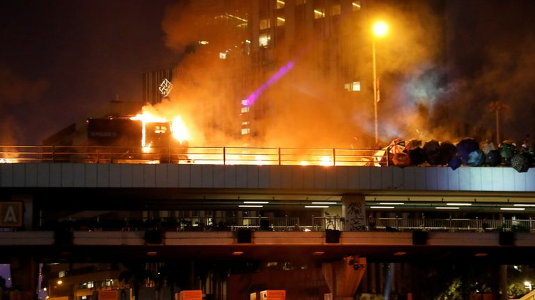 Clashes near Hong Kong Polytechnic University
