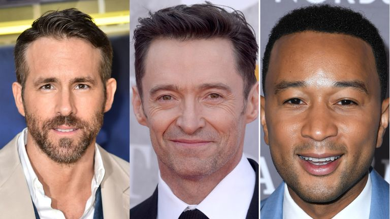 Ryan Reynolds, Hugh Jackman and John Legend are all winners of the Sexiest Man of the Year