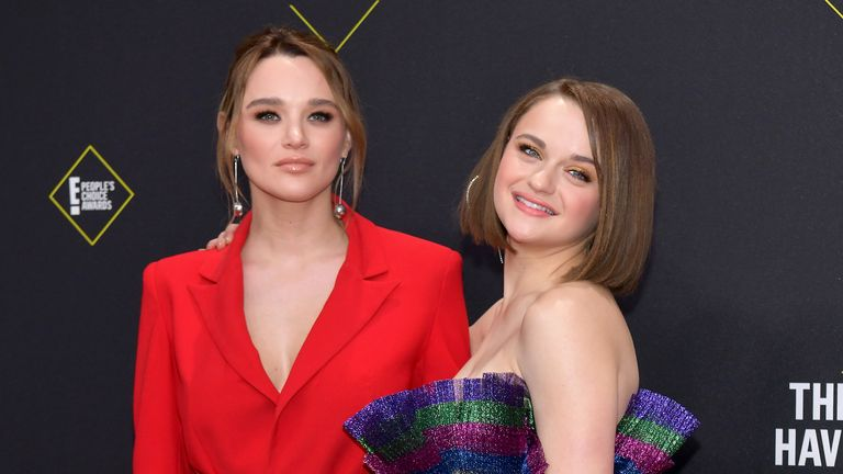 Hunter King and Joey King put on a colourful display on the red carpet