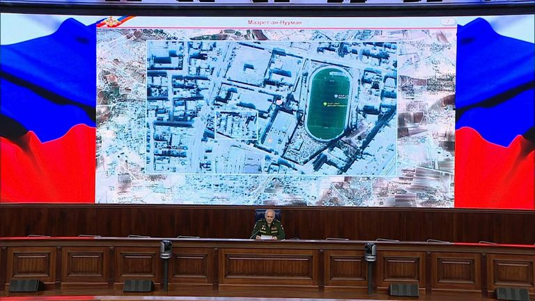 Maps produced by Russian generals focused on an area 300 metres away from the district