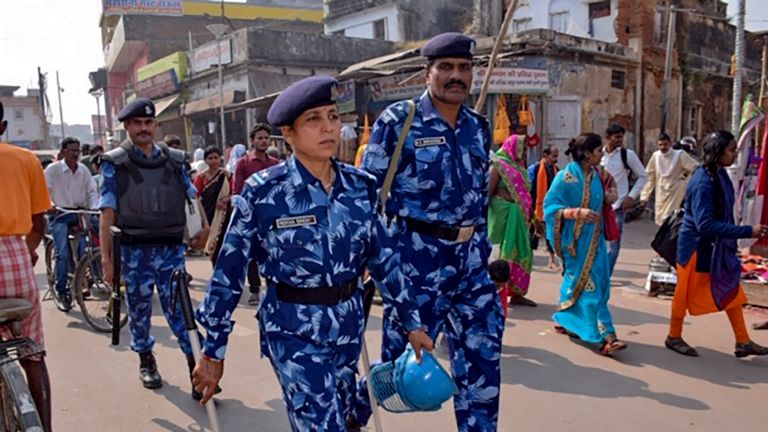 Security has been tightened in Ayodhya