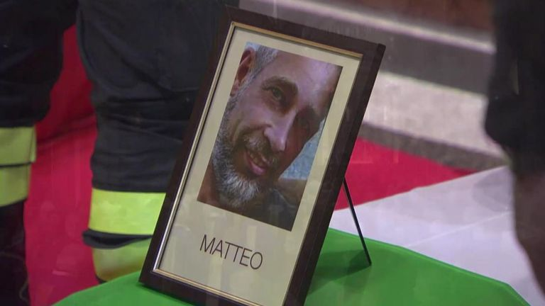 Matteo Gastaldo and two colleagues died in the explosions. Pic: Vigili del Fuoco