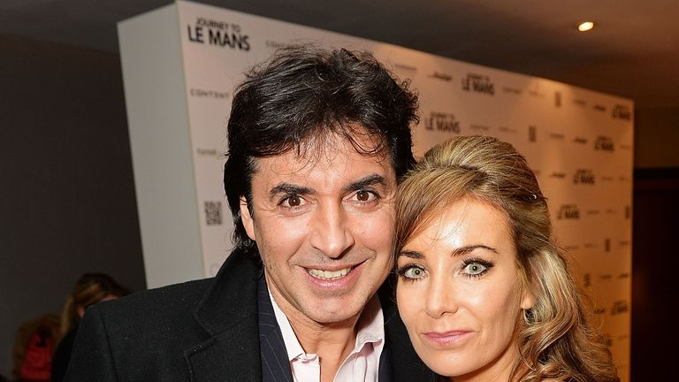 "Jean-Christophe Novelli and Michelle Kennedy at the UK Premiere of ""Journey To Le Mans"" at Vue Leicester Square on November 11, 2014"