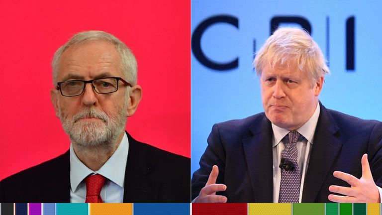 Jeremy Corbyn and Boris Johnson go head to head
