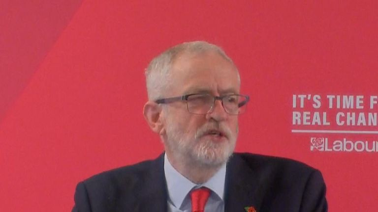 Jeremy Corbyn says the Conservatives want to hijack Brexit