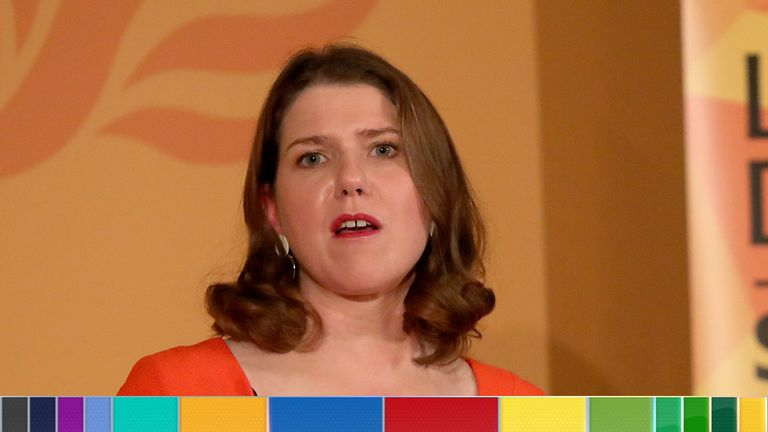 Jo Swinson speaking at the launch the Liberal Democrat general election campaign