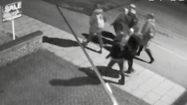 Jodie and her friends walk towards the park hours before her attack. Pic: Met Police