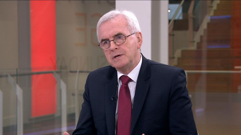 The shadow chancellor said he would not follow the lead of Jeremy Corbyn, who has promised not to take sides in another public vote.