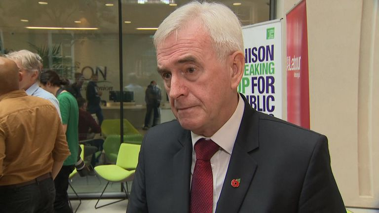 The shadow chancellor has dismissed Nigel Farage's claims that Labour will lose seats to the Brexit Party and insists voters have other priorities than just leaving the EU.