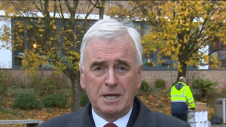 Shadow chancellor John McDonell