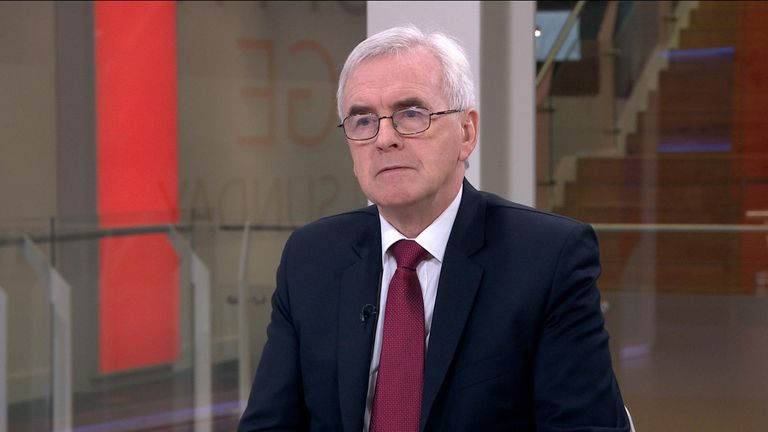 """John McDonnell says Labour will not agree to a second Scottish independence referendum """"in the first two or three years""""."""
