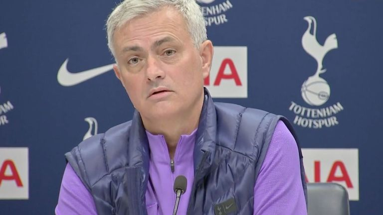 Jose Mourinho at first Spurs press conference