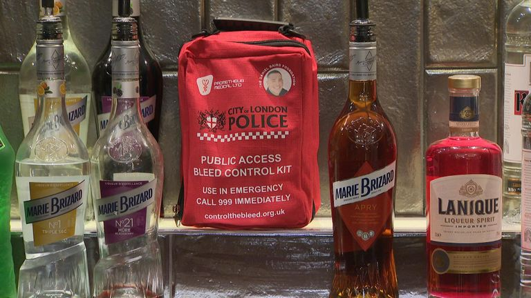 Knife bleed kits will be given to London bars
