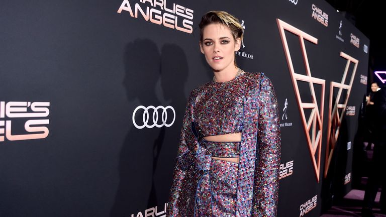 "LOS ANGELES, CALIFORNIA - NOVEMBER 11: Kristen Stewart attends Audi Arrivals At The World Premiere Of ""Charlie's Angels"" on November 11, 2019 in Los Angeles, California. (Photo by Stefanie Keenan/Getty Images for Audi)"