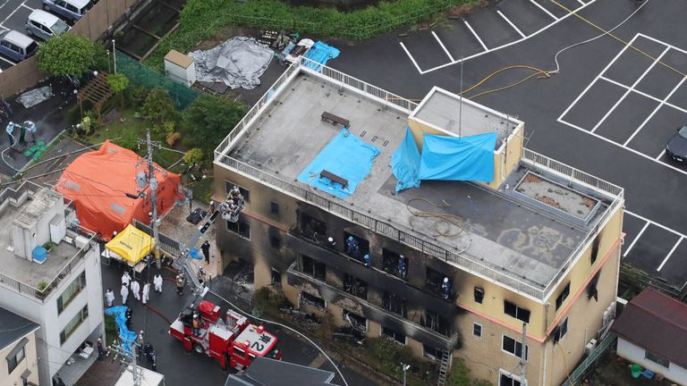 Shinji Aoba admitted to setting the Kyoto Animation Co's offices on fire