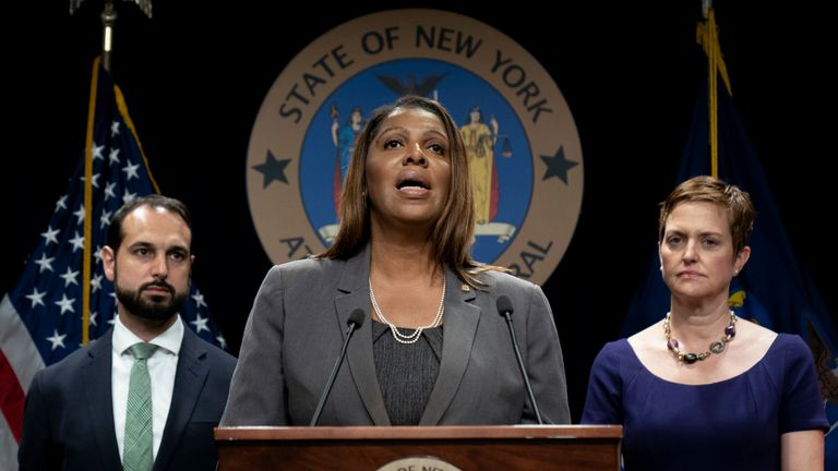 "Letitia James said after the resolution that ""nobody is above the law"""