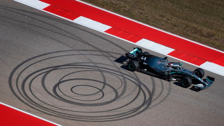 Lewis Hamilton during practice for US Grand Prix