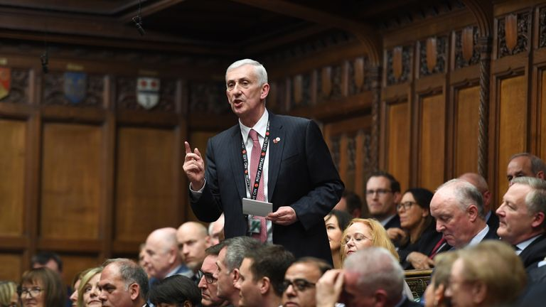 Sir Lindsay Hoyle runs in the speaker election. Pic: ©UK Parliament/Jessica Taylor