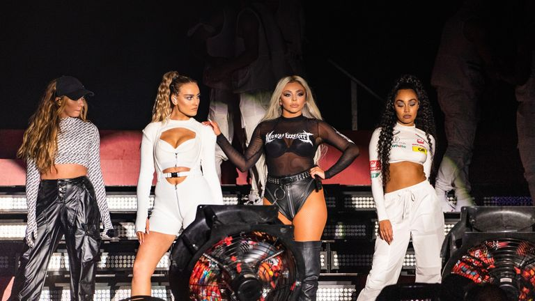 Jade Thirlwall, Perrie Edwards, Jesy Nelson and Leigh-Anne Pinnock of Little Mix perform on stage during day 3 of Fusion Festival 2019 on September 01, 2019 in Liverpool