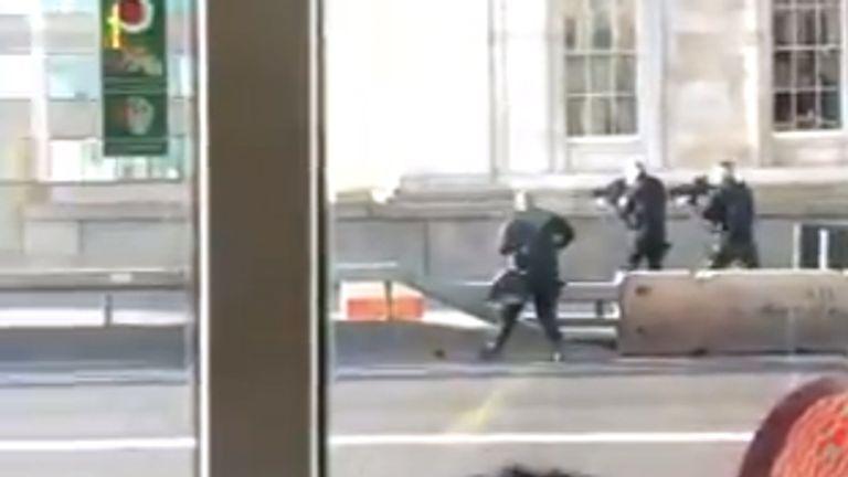 Police at the scene. Pic: @AmandaHunter87