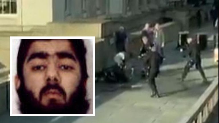 Usman Khan was pinned down and shot on London Bridge