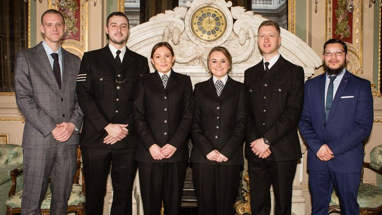 Tram staff and police officers were commended for their response to the attack