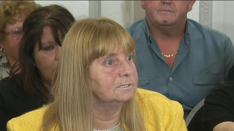 Hillsborough victim's mother reacts to the not guilty verdict from the trial of the match commander